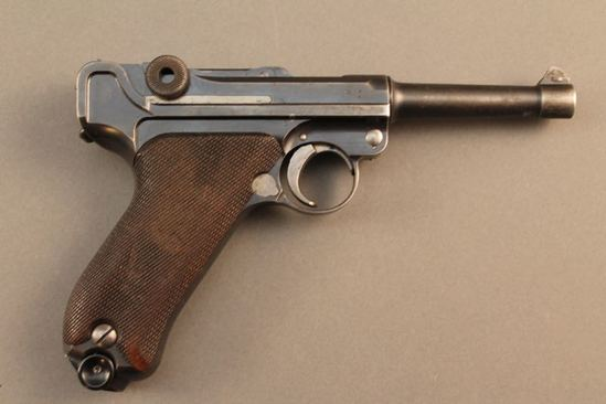handgun DWM MODEL P08 , 9MM SEMI-AUTO PISTOL, S#8701D