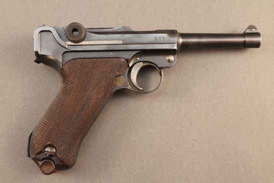 handgun DWM MODEL PO-8, 9MM SEMI-AUTO PISTOL, S#2933A