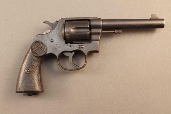 handgun COLT NEW SERVICE, .455 ELEY DA REVOLVER, S#106415