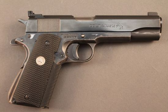 handgun COLT GOV'T MODEL, 45CAL SEMI-AUTO PISTOL, S#C232086
