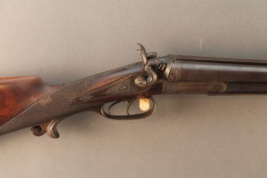antique M.A. SAAM SXS, 16GAX44/11MM PISTOL CARTRIDGE SHOTGUN/RIFLE COMBINATION, S#12333