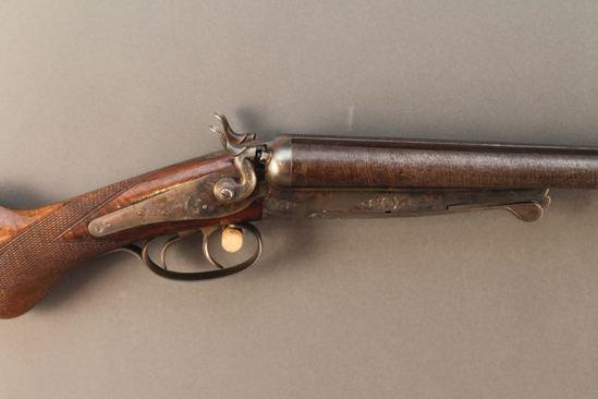 antique HUSQVARNA, UNDERLEVER MODEL, 16GA, SXS  SHOTGUN, S#42342