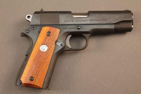 handgun COLT 1911 COMBAT COMMANDER, 45CAL SEMI-AUTO PISTOL, S#70BS14054