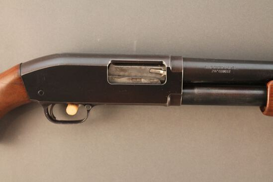 J.C. HIGGINS MODEL 20, 12GA PUMP ACTION SHOTGUN, NVSN