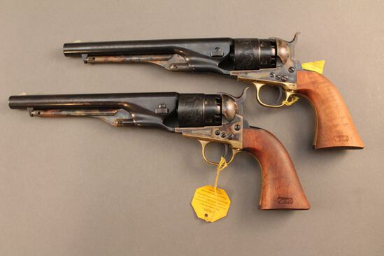 blackpowder PAIR OF SECOND GENERATION COLT 1860 ARMY, 44CAL. S#1936US, AND #US1936