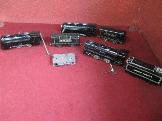 Three Marx Windup Locomotives & Tenders
