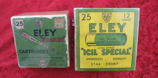 Pair of Eley Cartridge Boxes