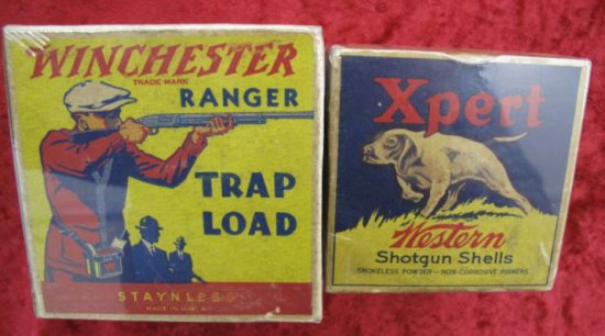 Early Winchester Western Shot Boxes