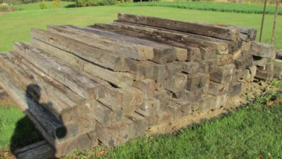 PILE OF USED RAILROAD TIES | Auctions Online | Proxibid