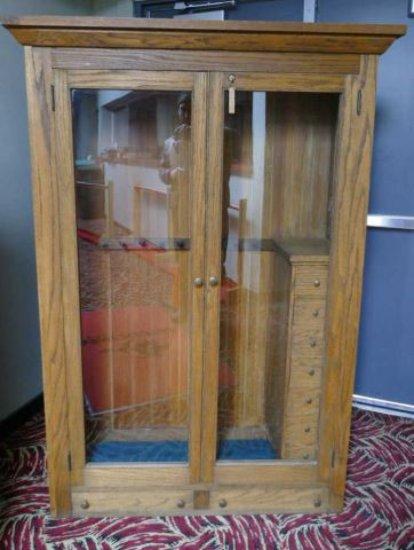 Antique Glass Door Gun Cabinet Auctions Online Proxibid