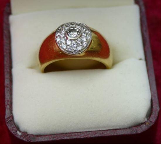 Mens18k Gold & Diamond Ring