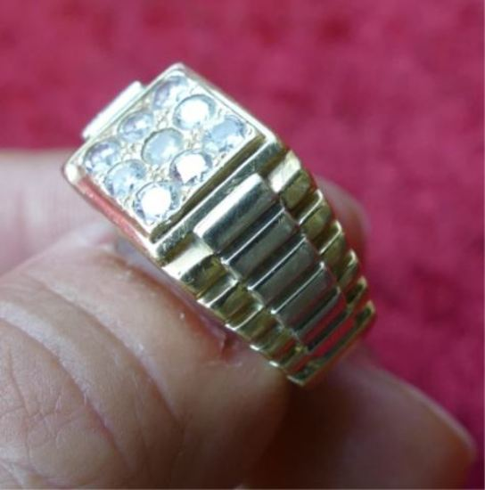 14k Men's Gold & Diamond Ring