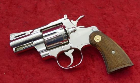 "Colt Nickel Finish Python Revolver w/2"" bbl"
