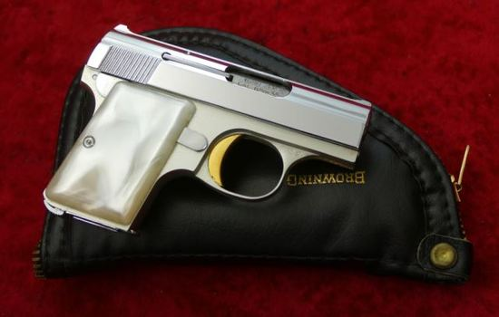 Browning Baby Nickel Plated Pistol