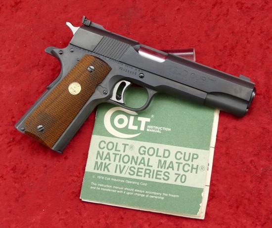 Colt Gold Cup National Match 45 cal. Pistol