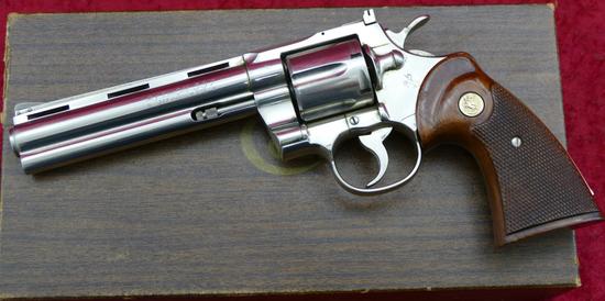 Nickel Colt Python w/Box