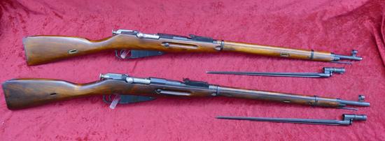 Pair of Russian 91-30 Nagant Rifles
