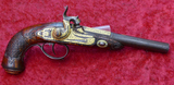 Gold Embellished Percussion Far East Trade Pistol