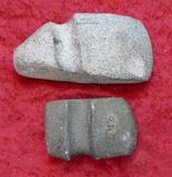 Pair of Small Stone 3/4 Groove Ax Heads
