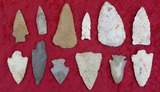 Grouping of 12 Assorted Arrow Heads