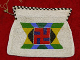 White Sioux Beaded Purse