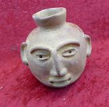 Small Effigy Head Pot