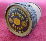 Large Wooden Keg Laflin & Rand Orange Rifle Powder