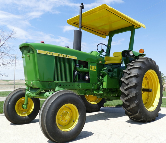 John Deere 3020 Diesel Tractor w/ ROP Canopy