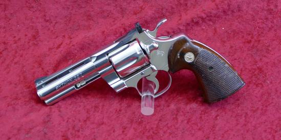 Colt Nickel Finished Python Revolver