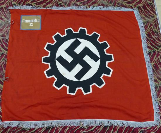 2 Sided Nazi Labor Party NEUMARKT City Banner