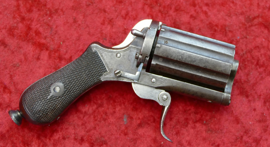 Antique Folding Trigger 8 Shot Revolving Handgun