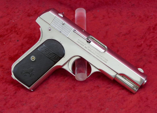 Nickel Finished Colt 1903 Pocket Pistol
