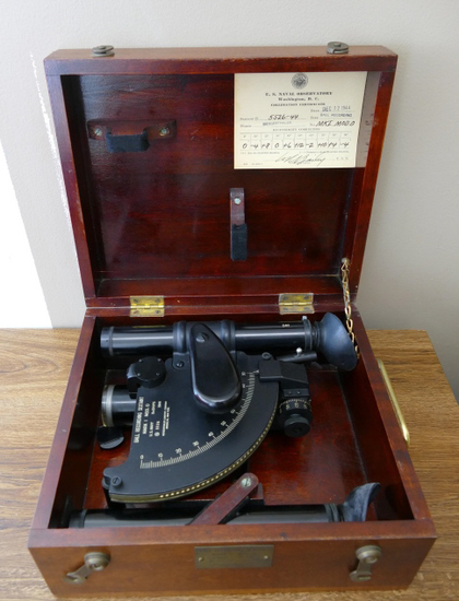 WWII USN Ball Recording Sextant w/Case
