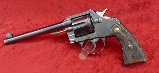 Colt New Service 44 Russian Target Revolver