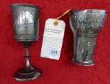 Pair of German Hunting & Fishing Trophies