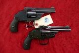 Pair of H&R 38 cal. Hammerless Revolvers