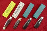 Lot of 4 Remington Bullet Knives