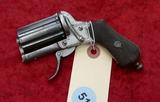 Antique 8 Bbl Folding Trigger Rim Fire Revolver