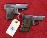 Pair of Astra 22 & 25 cal Pocket Pistols
