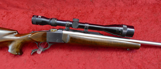 Custom Ruger No 1 in Saunders 17-32 JET cal.