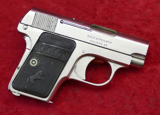 Nickel Plated Colt 1908 25 ACP Pistol