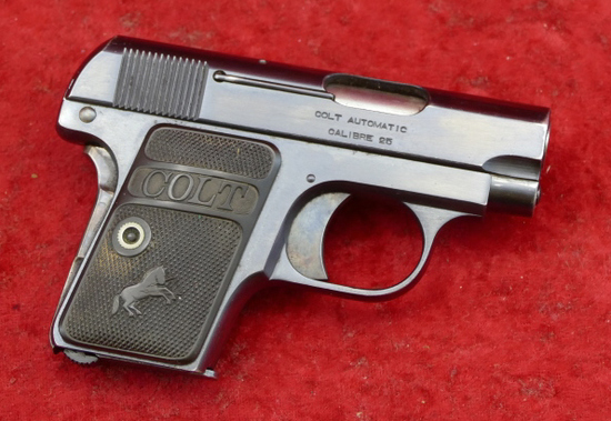 Blued Colt 1908 25 ACP Pistol