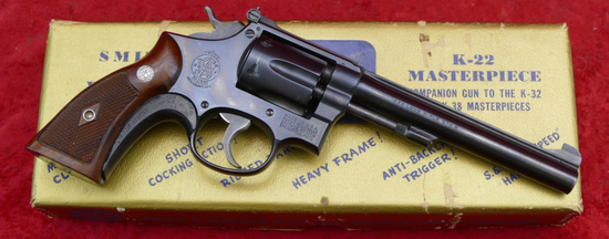 Early Smith & Wesson K22 Masterpiece w/Box