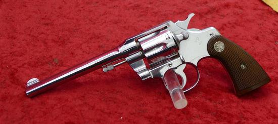 Rare Nickel Finish Colt Official Police 22 Rev.