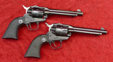 Pair of Early Flat Gate Ruger Single Six Revolvers
