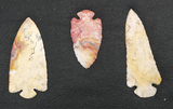 3 Large Dovetail Arrowheads