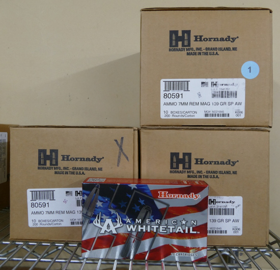 540 rds of 7mm REM Mag 139 GR Hornady Ammo