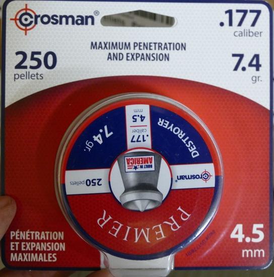108 pkgs Crosman Max Penetration & Expansion BBs