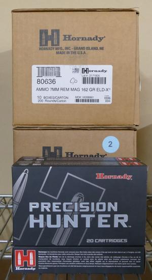 460 rds of Hornady 7mm Mag 162 GR BTSP Ammo