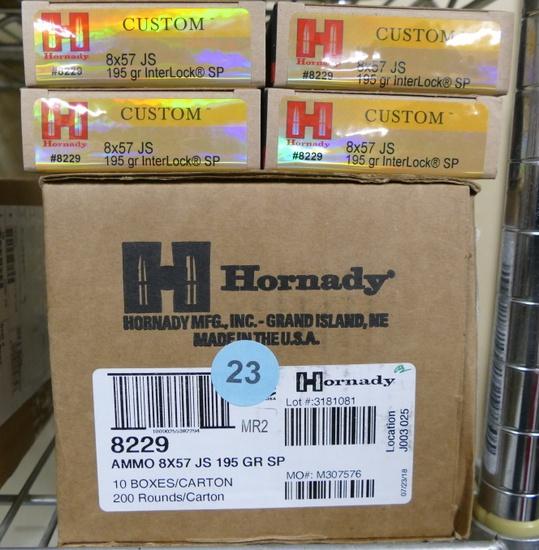280 rds Hornady 8x57 JS Ammo